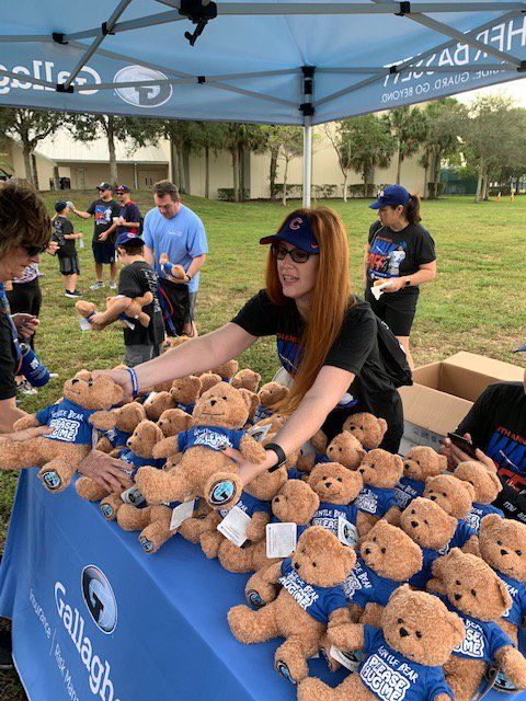 Assistant Branch Manager Alison Machulak handing out Gentle Bears at the event