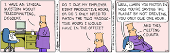 dilbert cartoon about working from home
