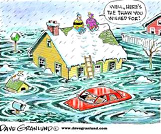 cartoon of a house in a flood